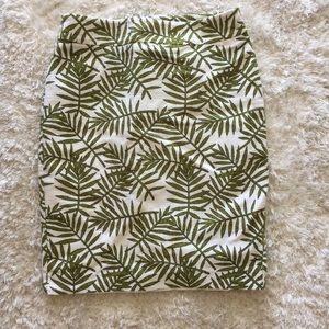 Ann Taylor Palm Leaves Pencil Skirt